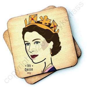 The Queen (1952) Character Wooden Coaster – RWC1 – Pack of 6