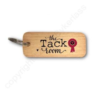 The Tack Room Rustic Wooden Keyring – RWKR1 – Pack of 6