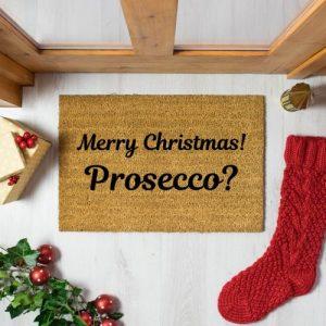 Merry Christmas! Prossecco? Doormat