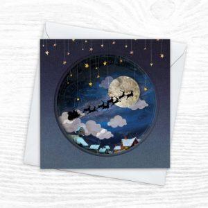 Christmas Cards - The Diorama Collection - Starry Christmas Eve - Xmas Diorama 3 CREOATE 500x500
