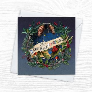 Christmas Cards - The Diorama Collection - Festive Wreath - Xmas Diorama 4 CREOATE 500x500