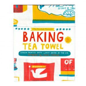 Screen Printed Baking Tea Towel