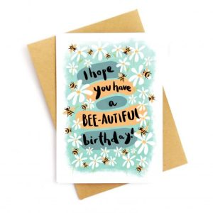 Have A Bee-autiful Birthday Recycled Card
