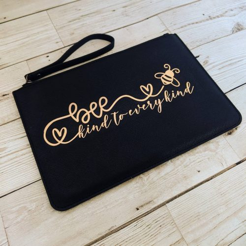 Be Kind To Every Kind Faux Leather Clutch Bag
