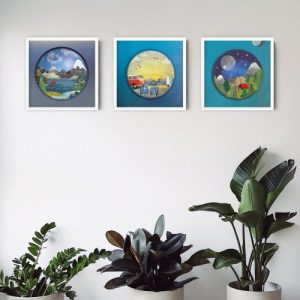 "Wall Art - 'Snowy Peaks' 12"" x 12"" Print - image 4 500x500"