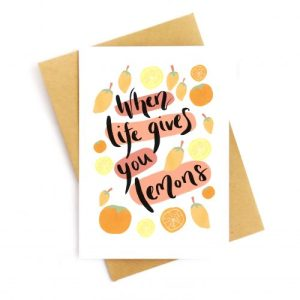 When Life Gives You Lemons Recycled Card