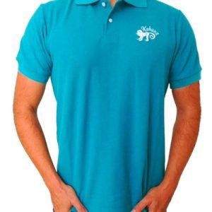 Monkey polo shirt Blue