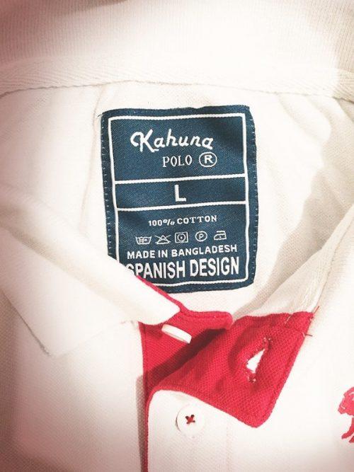 Monkey polo shirt White & Red - polo blanco rojo kahuna store hombre joven algodon organico logo bordado surf skate snow casual 1 500x667
