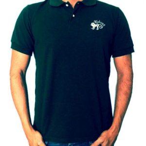 Monkey polo shirt Green - polo verde oscuro kahuna store hombre joven algodon organico logo bordado surf skate snow2 500x500