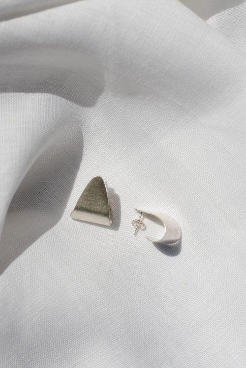 Eco silver statement curl studs - statement curl studs 4 500x749