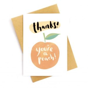 Thanks You're A Peach Recycled Card