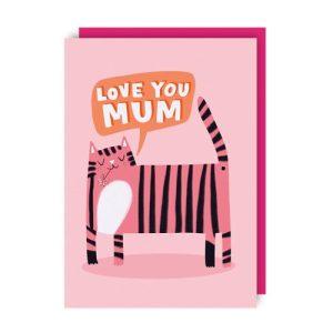 Tiger Mum Greeting Card pack of 6