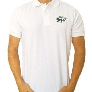 Monkey polo shirt White