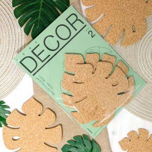 Leaf Decor - Monstera Leaf Cork Trivet Wall Decor Set of 2 - 00 monstera leaf decor trivet 500x500