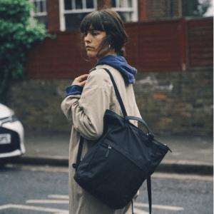 London Tote Backpack · Black (British Millerain)