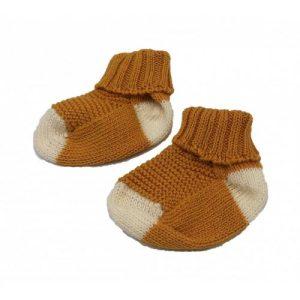 Ochre baby sock - 20 calcetines bebe ocre crudo 500x500