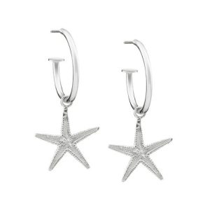 CLASSIC STARFISH HOOP EARRINGS Sterling Silver - 27 500x500