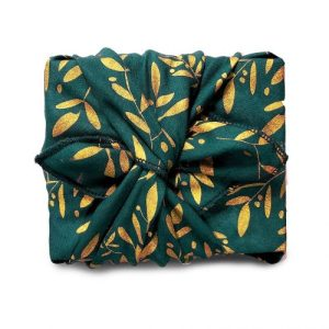 A mistletoe garden (royal green) Gift Wrap (32x32cm)