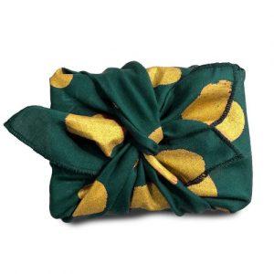 Flakes (royal green) Gift Wrap (32x32cm)