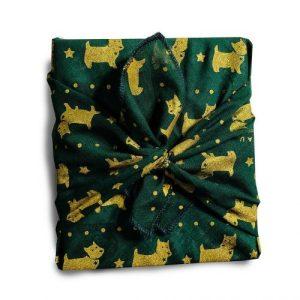 Oscar (royal green) Gift Wrap (32x32cm)
