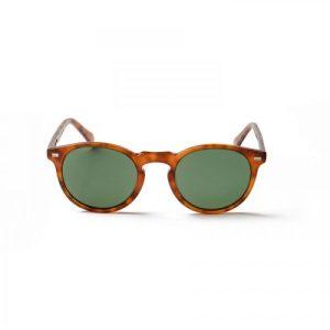 De Niro demi brown frame and green lens sunglasses