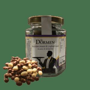 Chocolate Peanut & Yoghurt Raisins (20 x 120g) - ChocolatePeanut YoghurtRaisinsHexJar 503x 500x500