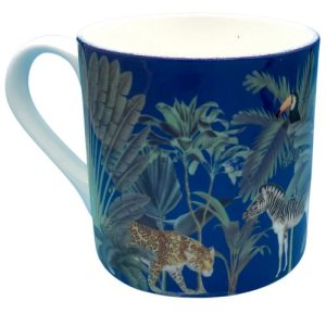 Darwins Menagerie Navy Large Bone China Mug - Darwins Menagerie Mugs Large 10 500x500
