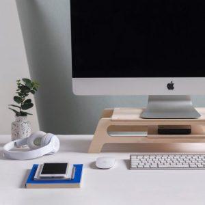Debridge desktop computer stand