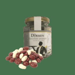 Belgian Chocolate Coated Peanuts (20 x 120g) - DormenChocolatePeanutsJar 503x 500x500