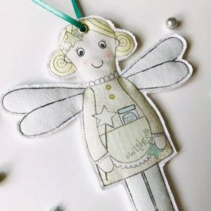 Flossy Teacake Fabric hanging Flossy Fairy Christmas decoration - Fairy 500x500