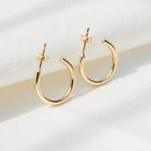 9ct recycled gold chunky hoops - Gold chunky hoops 6 500x500