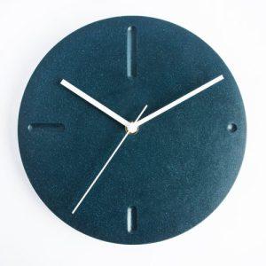 Wall Clock in Deep Blue