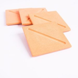Square Coasters in Peachy Pink Set of 4