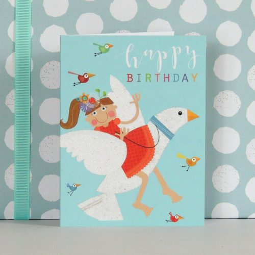KTG05 mini glittery dove card