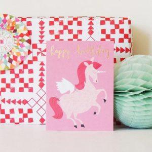 KTW21 mini unicorn birthday card - KTW21B 500x500