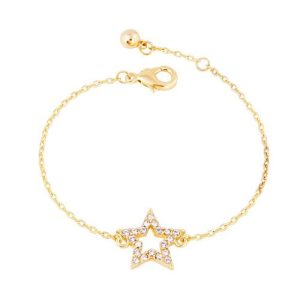 Crystal Star Bracelet in Gold - LB002G 500x500