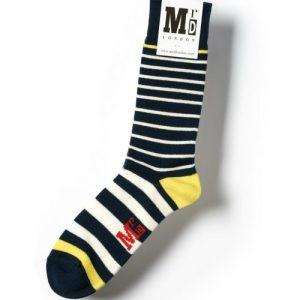 Breton Stripe 9 Guage Socks – Navy