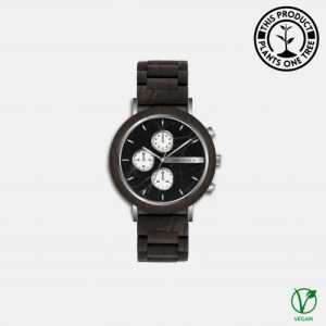 Botanica Watches   Coleus   Sandalwood and Marble Face with Woodlink Strap