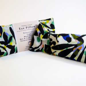 Heated/Cooled, Organic cotton Eye Pillow – Relaxation – Fronds
