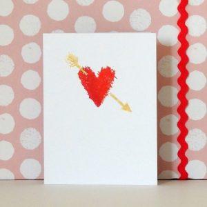 TW10 mini heart and arrow card