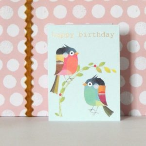 TW203 mini birdie birthday card - TW203C 500x500