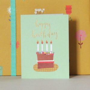 TW46 mini happy birthday cake card