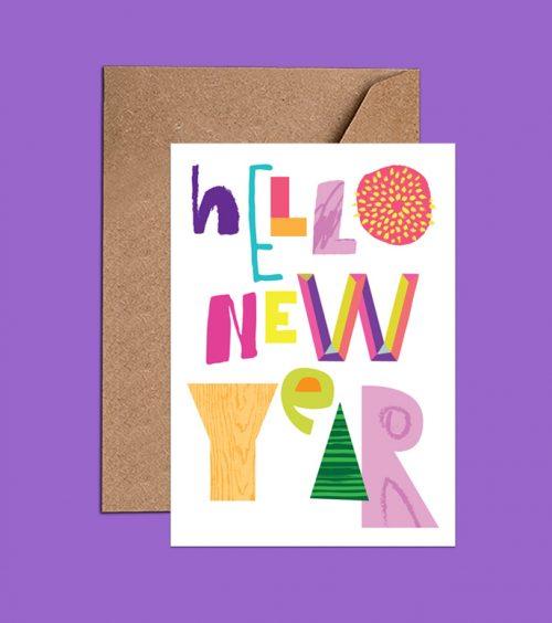 Happy New Year Card – Hello New Year – (WAC18413)