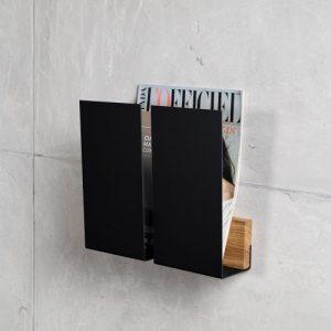 black magazine wall holder