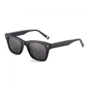 Nicosia shiny black frame and smoke lens sunglasses