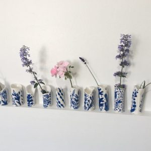 *SPECIAL LISTING* Mixed box of 6 porcelain bud vases eco conscious handmade gift boxed