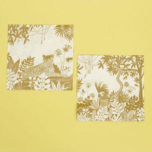Golden Jungle 20 napkins