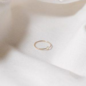9ct recycled gold mini circle ring - gold mini circle ring 1 500x500