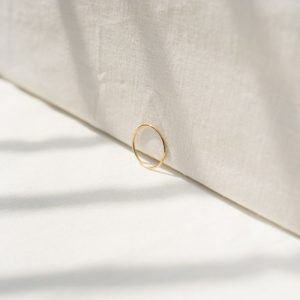 9ct recycled gold stacking ring - gold stacking ring 2 500x500