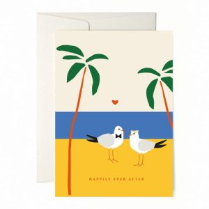 "Greeting Card ""Love Birds"" Pack of 6 - happilyeverafter 500x500"